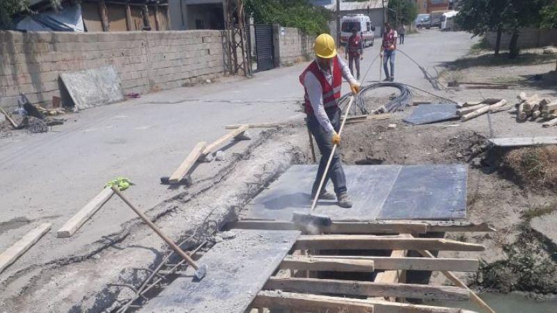 Haberimiz ses getirdi! Şamran Kanalı Köprüsü onarılıyor