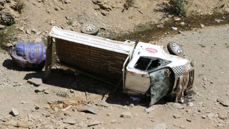 Hizan'da kamyonet şarampole devrildi: 1 yaralı