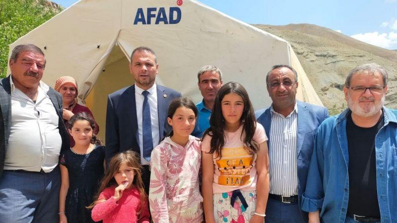 Van Saadet Partisi'nden selzedelere yardım eli