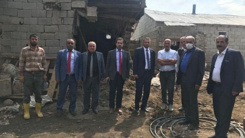Saadet Partisi Van heyeti Çaldıran sel bölgesinde