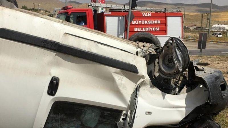 Van'da freni boşalan araç takla attı: 1 yaralı