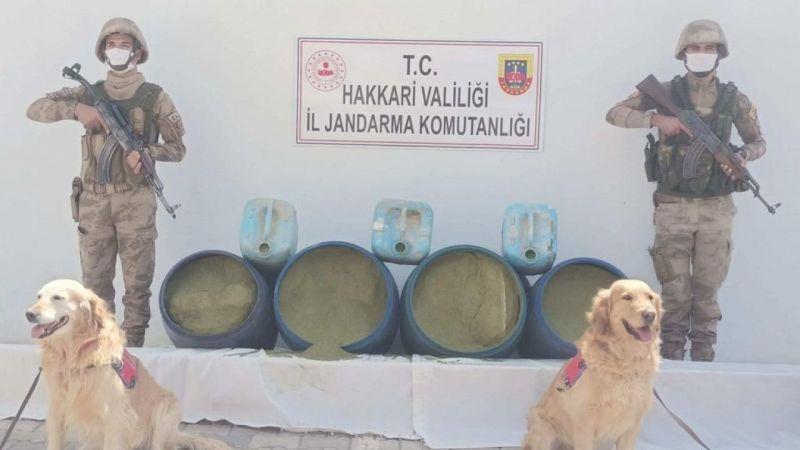 Hakkari'de 318 kilo esrar ele geçirildi
