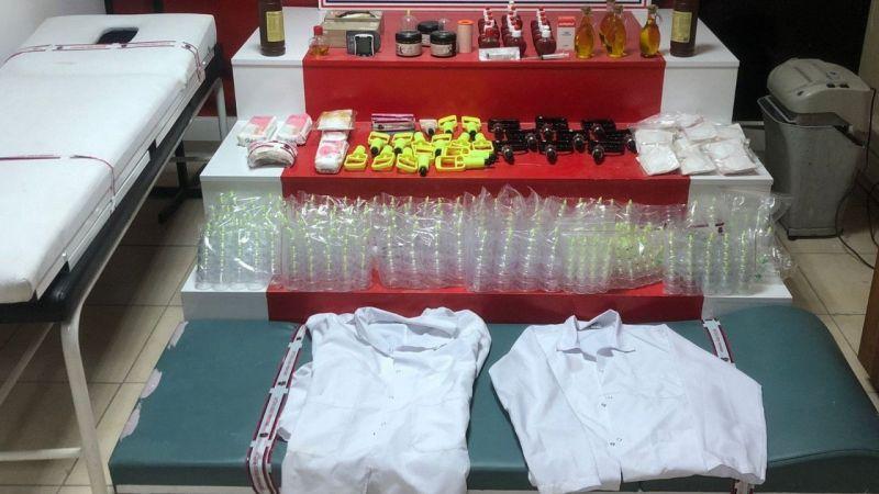 Van'da çok sayıda tıbbı malzeme ele geçirildi