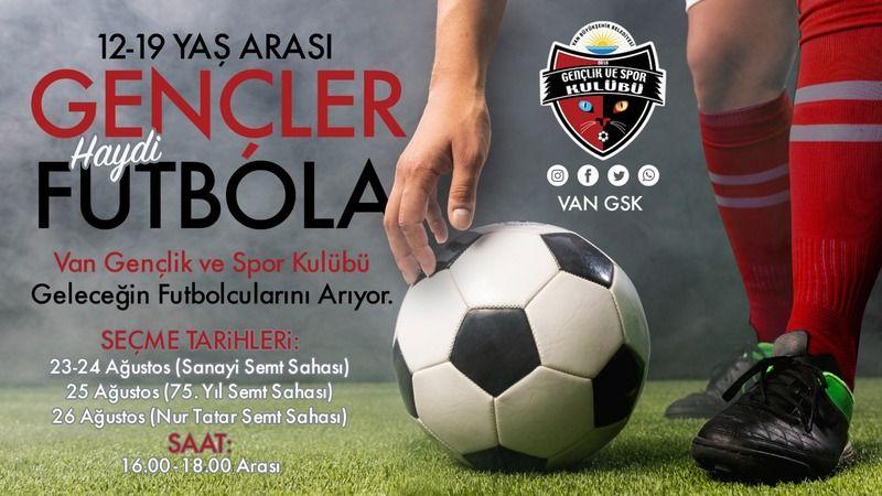 Van Büyükşehir futbolcu seçmeleri yapacak