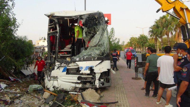 Mersin'de yolcu otobüsü şarampole yuvarlandı: 33 yaralı