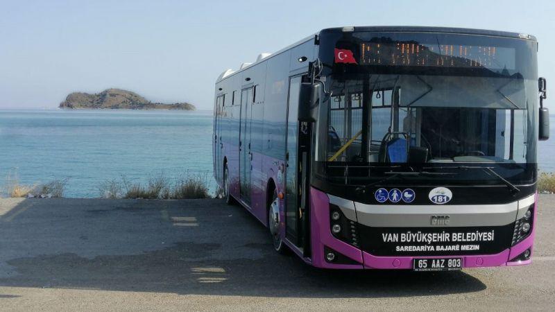 Van Gevaş Akdamar iskelesine otobüs seferleri başladı
