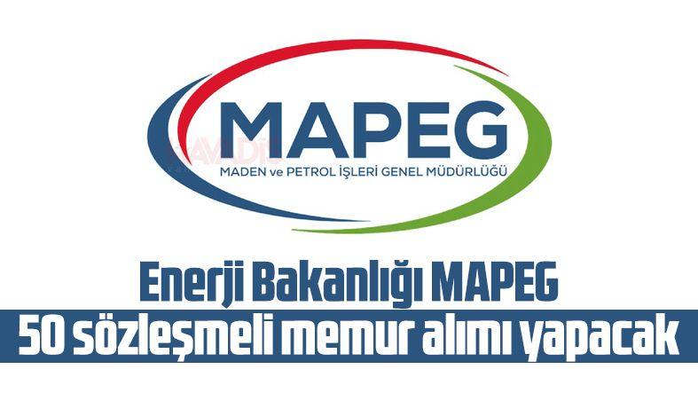 Enerji Bakanlığı MAPEG 50 sözleşmeli memur alımı yapacak