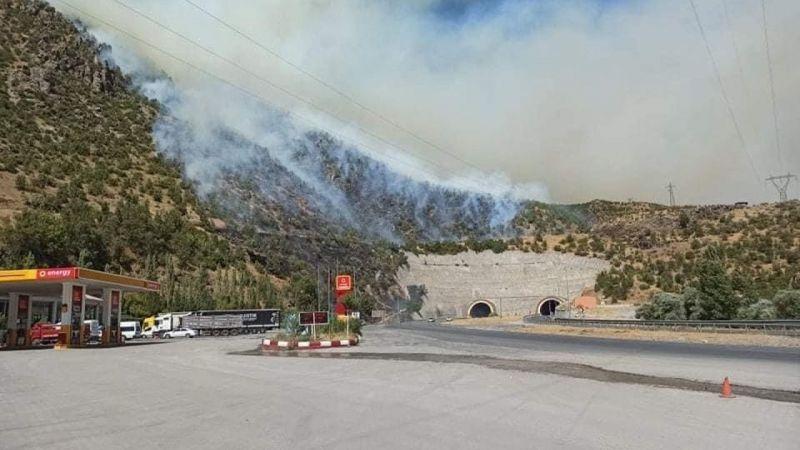 Bitlis'te 2 ayrı noktada örtü yangını!