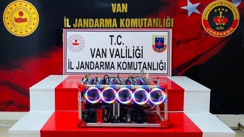 Van'da değeri 400 bin TL olan kripto para üretim cihazı ele geçirildi