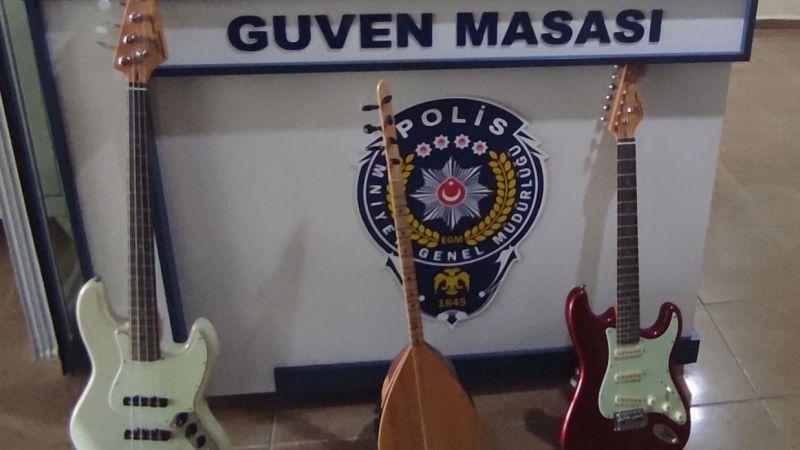 Van Başkale'de müzik aletleri çalan hırsızlık şüphelisi yakalandı
