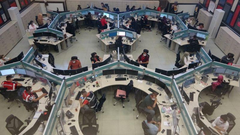 Van 112 Acil Çağrı Merkezi 1 yılda 2 milyon çağrı karşıladı