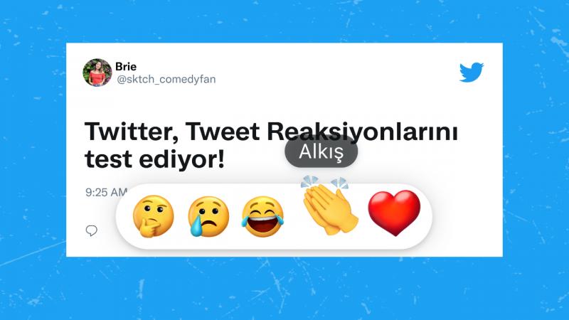 Twitter emojilerle tepki verme özelliğini Türkiye'de test ediyor