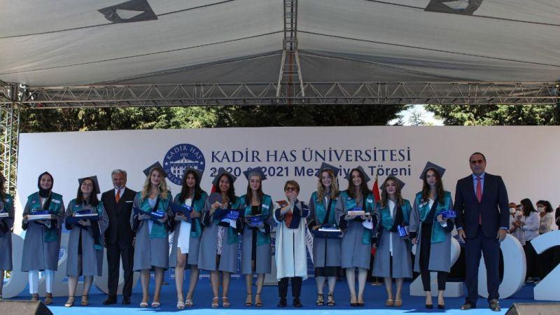 Kadir Has Üniversitesi'nin 2020 ve 2021 mezunları kep attı