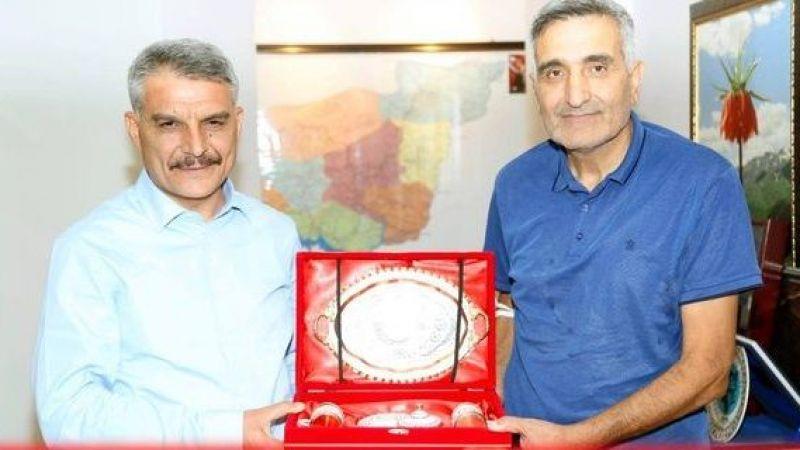 Gazeteci Çurku'dan Tunceli Valisi Özkan'a ziyaret