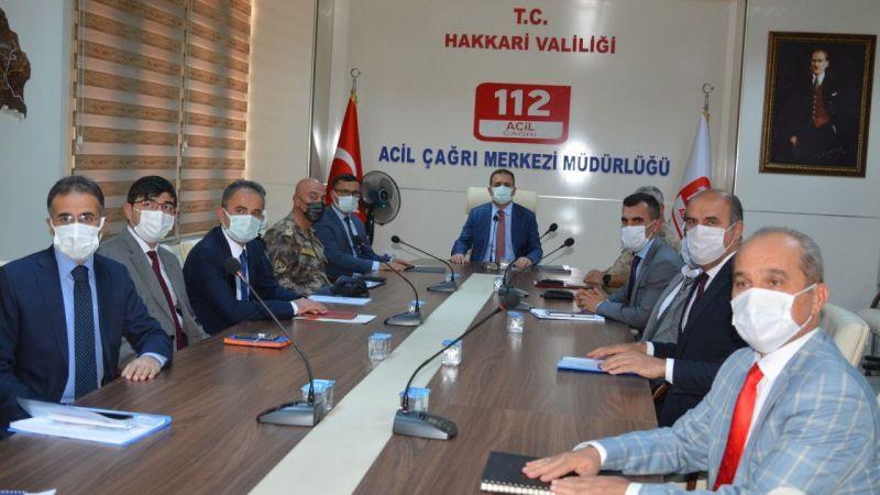 Hakkari'de çağrı merkezi koordinasyon toplantısı yapıldı