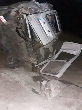 Van Bahçesaray'da minibüs şarampole yuvarlandı: 1 ölü, 1 yaralı
