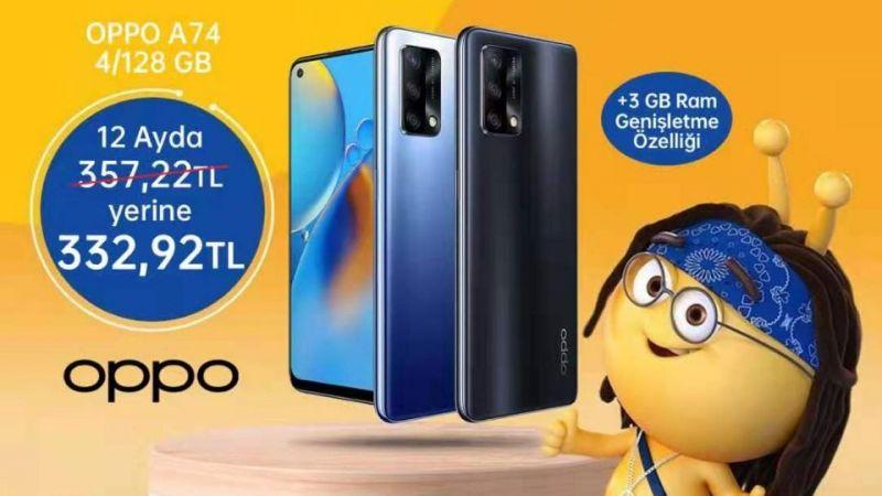OPPO A74 ve OPPO Enco Air indirimli fiyatlarıyla Turkcell mağazalarında