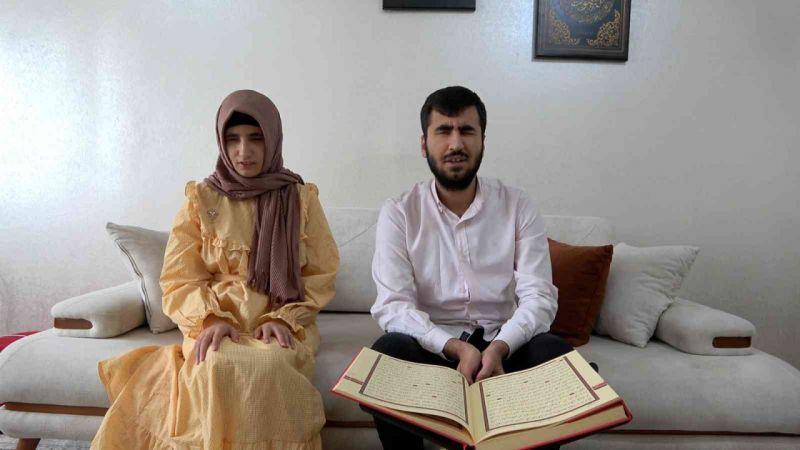 Görme engelli hafız Canpolat'tan Erdoğan'a çağrı