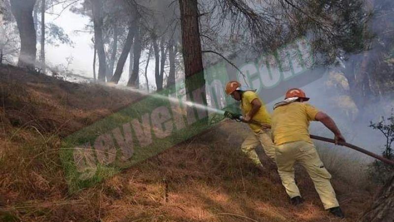 Geyve'den gittiler..Muğla'daki orman yangına müdahale ediyorlar