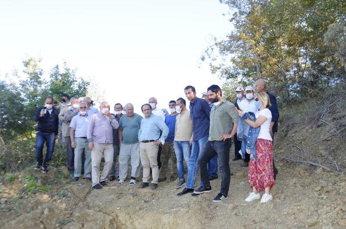 CHP den Geyve'de kayan Mahalleye ziyaret..