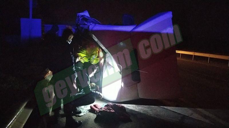 Pamukova da inanılmaz kaza! Sürücü kabini 20 metre ileri fırladı..