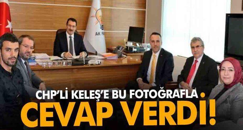 CHP İl Başkanı Keleş'e bu fotoğrafla cevap verdi!