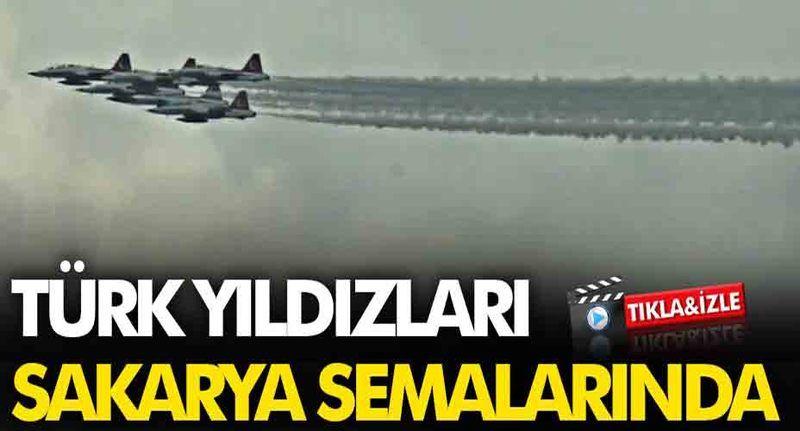Türk Yıldızları Adapazarı semalarında uçuş yaptı