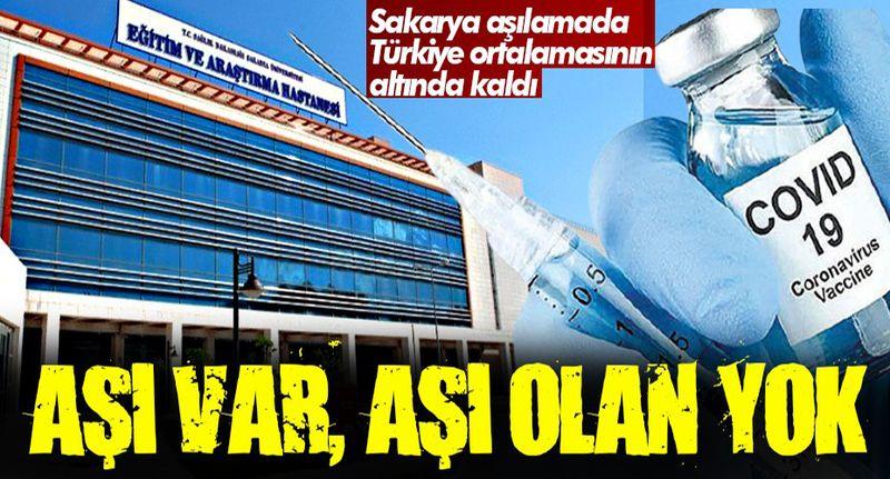 Türkiye'de yüzde 60 Sakarya'da yüzde 42... Aşı var aşı olan yok!