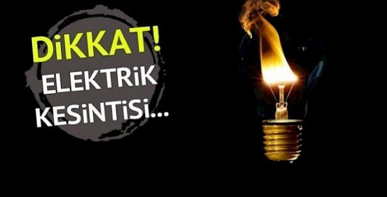 Geyve'de bugün 1 mahallede elektrik kesintisi var!