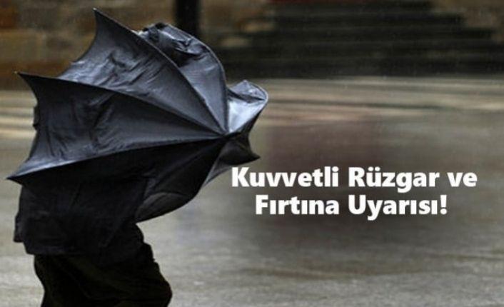 Meteoroloji'den kuvvetli rüzgar ve fırtına uyarısı!