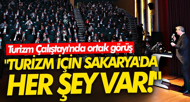 """Turizm Çalıştayı'nda ortak görüş """"Turizm için Sakarya'da her şey var!"""""""