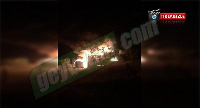 Geyve'de yangın faciasının ilk anlarının görüntüleri ortaya çıktı...