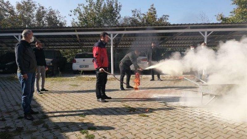 Yangın ve tahliye tatbikatları Geyve'de devam etti