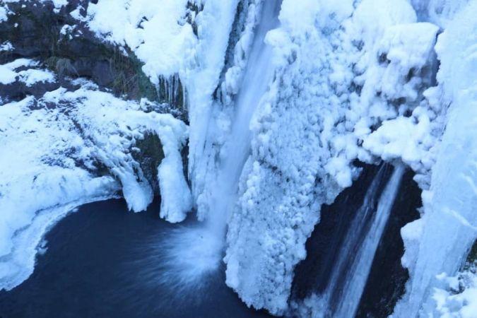 Eskişehir'de Buz Tutan Şelale Güzel Görüntüler Oluşturdu