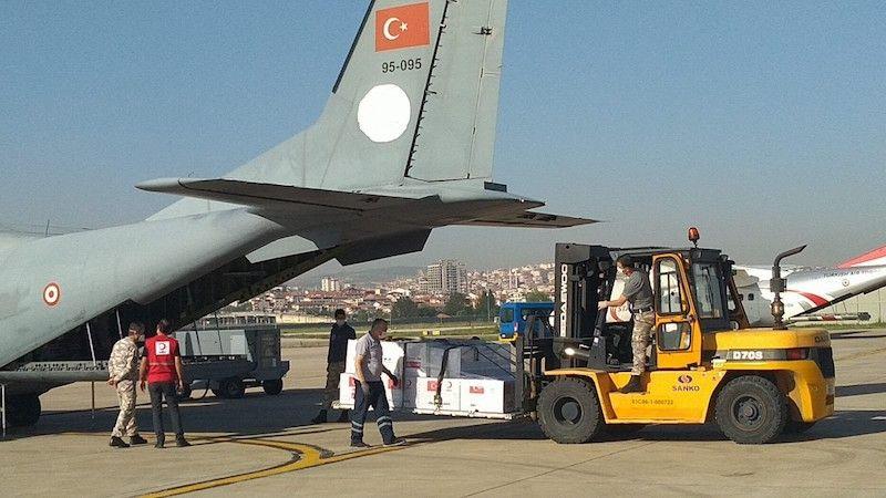 Tıbbi yardım Makedonya'ya ulaştı