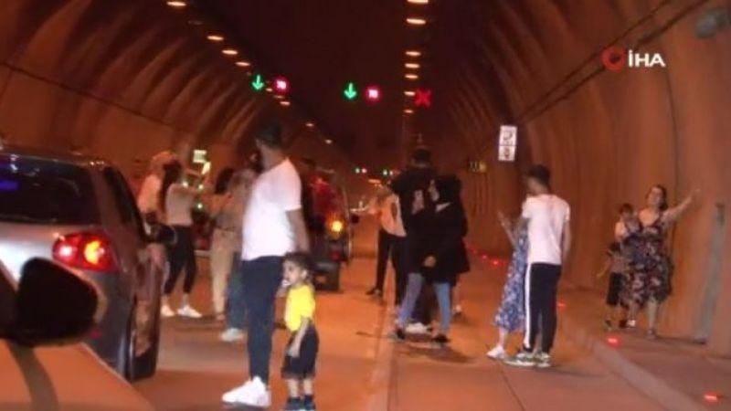 Şehir magandaları eğlence için tüneli kapattı