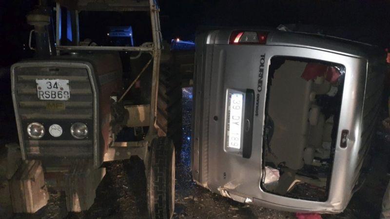 Kırklareli'de 3 aracın karıştığı trafik kazası: 1 yaralı