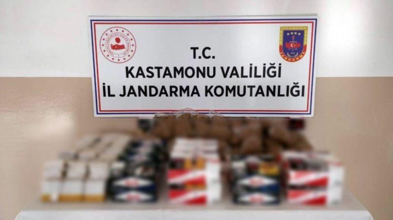 Kastamonu'da depoya kaçak sigara operasyonu