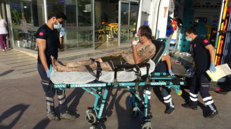 Boğulmak üzereyken arkadaşı son anda kurtardı