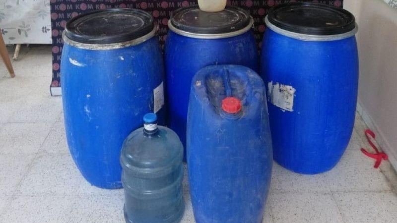 İskenderun'da 2 bin 660 litre kaçak içkiye el konuldu
