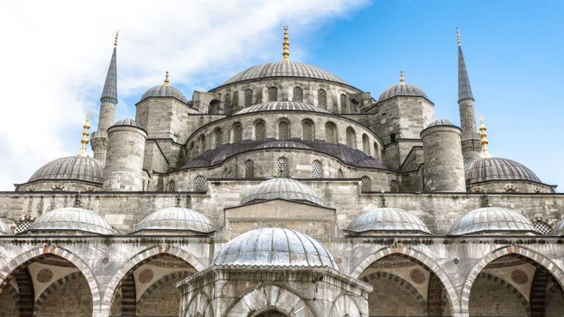Erdoğan ve MHP lideri Bahçeli Ayasofya Cami'nde incelemelerde bulundu