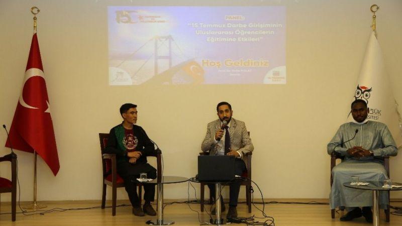 """""""15 Temmuz Darbe Girişiminin Uluslararası Öğrencilerin Eğitimine Etkileri"""" paneli"""