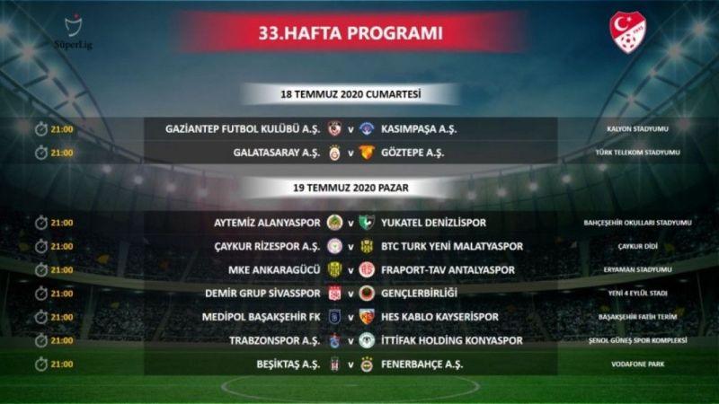 Süper Lig'de 33. hafta programı değişti!