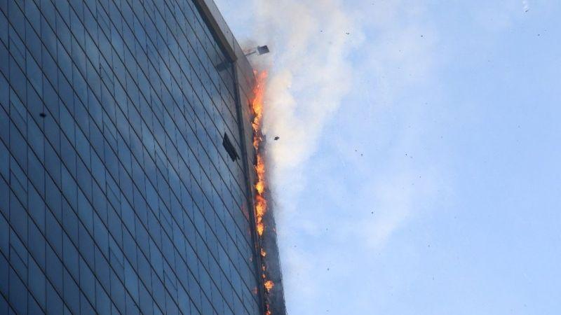 Ankara'da iş merkezinde çıkan yangın kontrol altına alındı