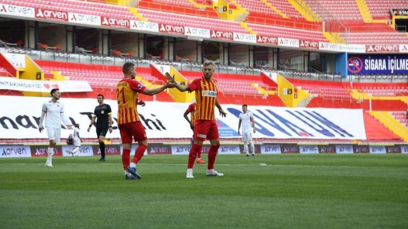 Kayserispor Süper Lig'de 34 maçta 40 gol attı