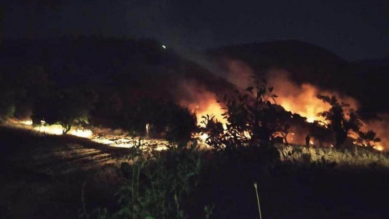 Malatya'da dağlık alanda çıkan yangına müdahale ediliyor