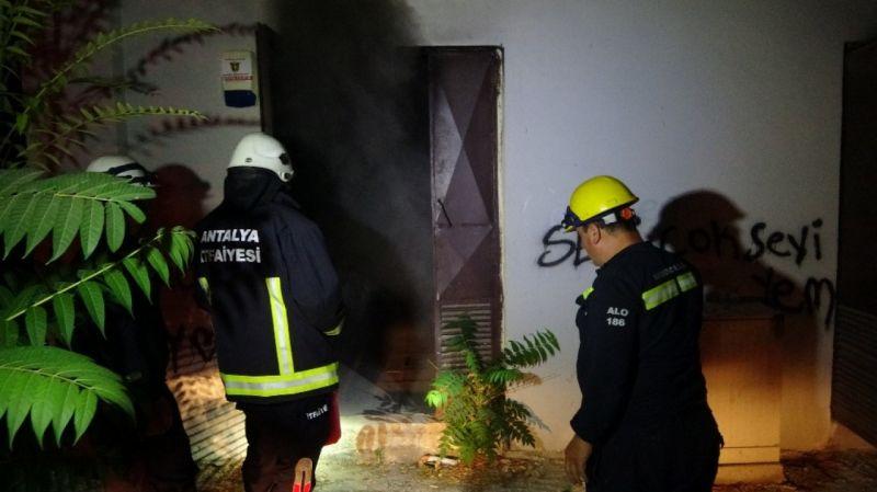 Antalya'da trafo yangını paniğe neden oldu