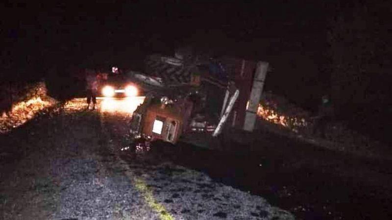 Aydın'da traktör devrildi 6  kişi yaralandı
