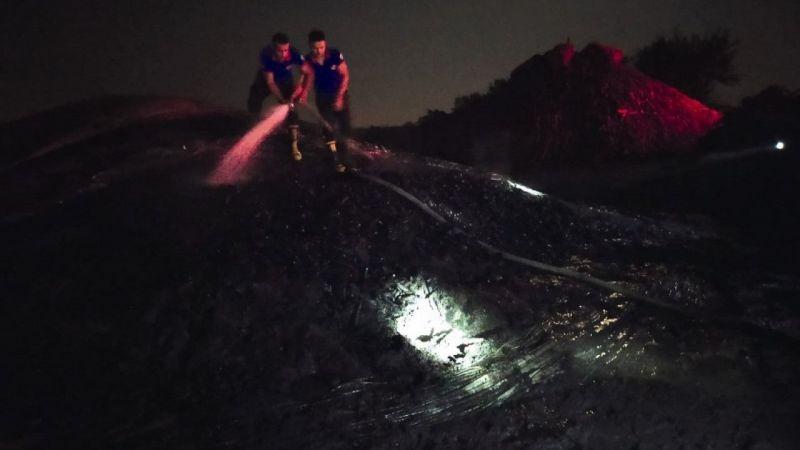 Adana'da kömür deposu yandı