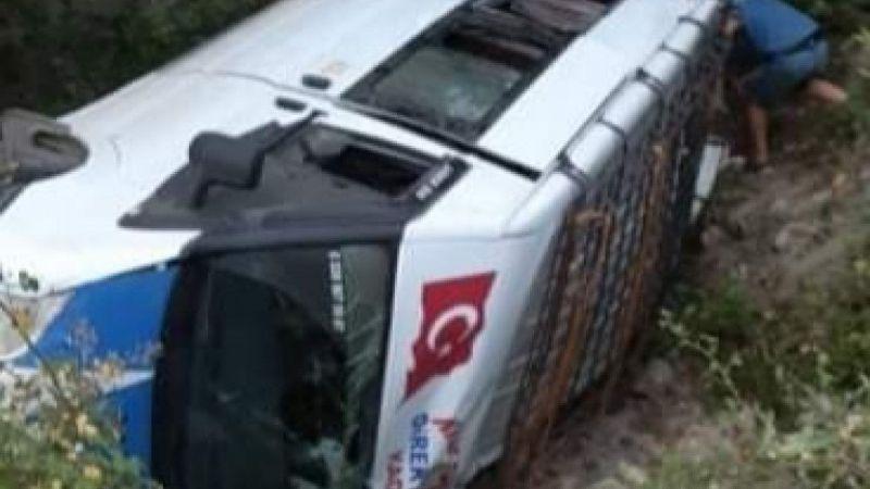 Kahramanmaraş'ta yolcu minibüsü devrildi: 6 yaralı
